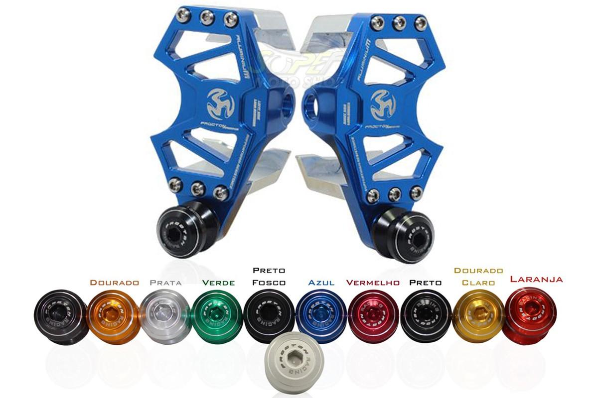 Suporte Azul + Micro Slider Traseiro / de Balança Procton - XJ6 N / F - Yamaha
