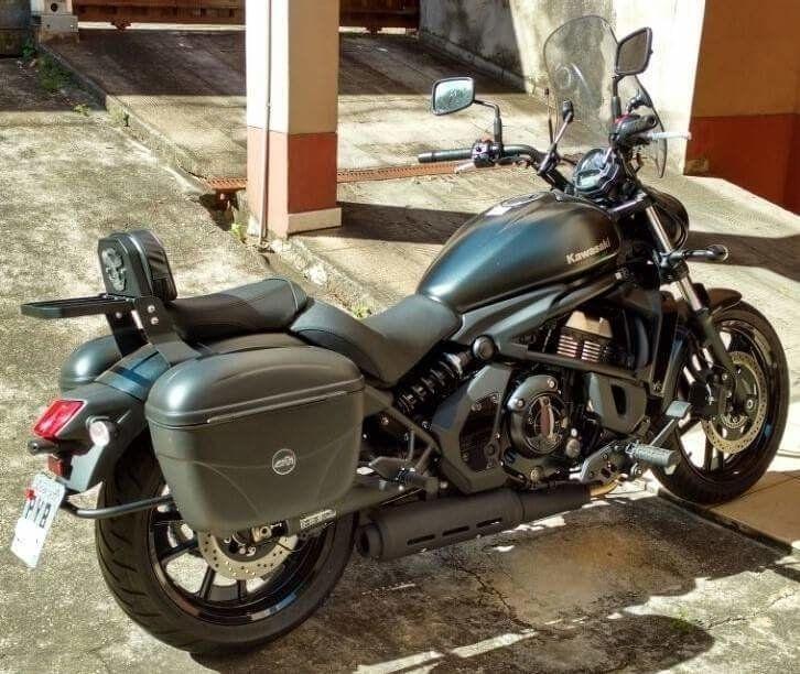 Suporte de Baú / Bauletos Laterais Modelo Dalavas - Vulcan 650 S - Kawasaki