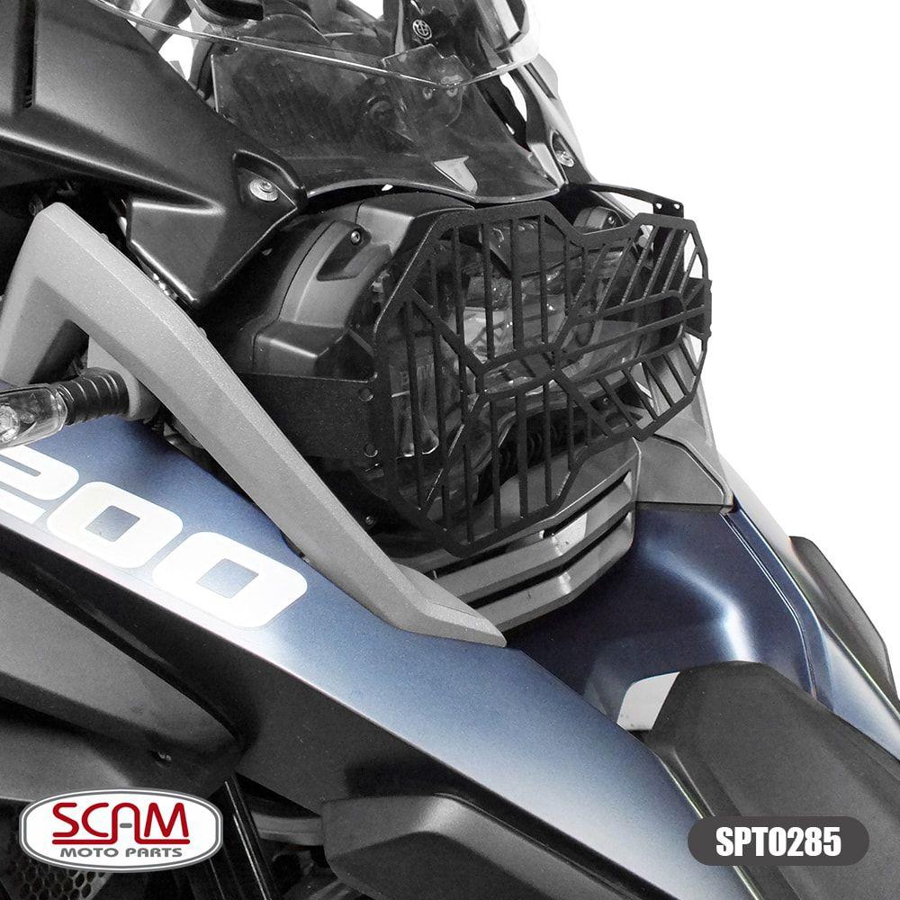 Protetor de Farol Scam em Aço Carbono Preto - R 1250 GS ano 2019 em Diante - BMW