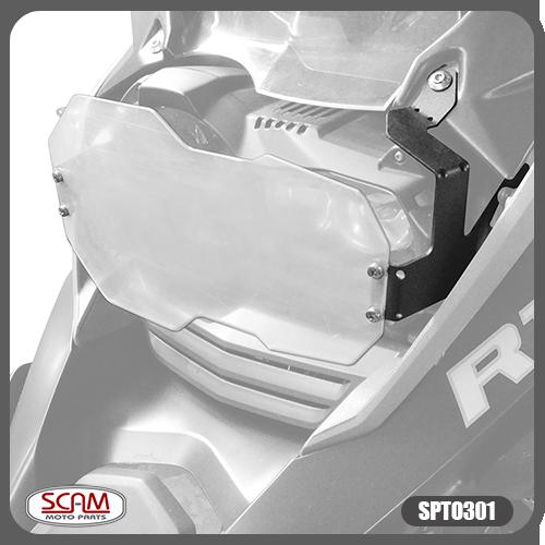 Protetor de Farol Scam em Policarbonato - R 1250 GS ano 2019 em Diante - BMW
