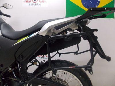Suporte Lateral Chapam Preto para Side Case Givi - Lander XTZ 250 ABS ano 2019 em Diante - Yamaha