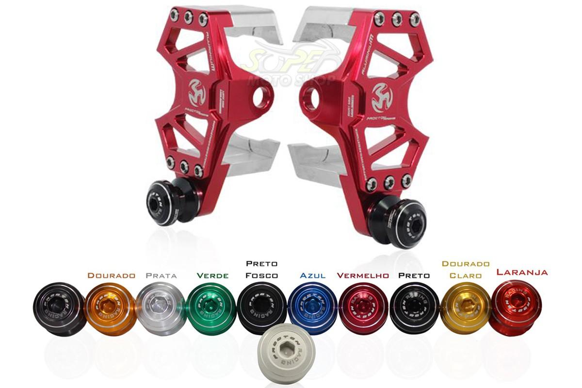 Suporte Vermelho + Micro Slider Traseiro / de Balança Procton - XJ6 N / F - Yamaha