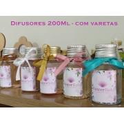 Difusor de Ambientes com Varetas 200ml - Diversos Aromas FlowerField