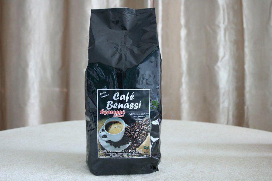 Café Benassi Espresso Gourmet Torrado em Grãos 1Kg