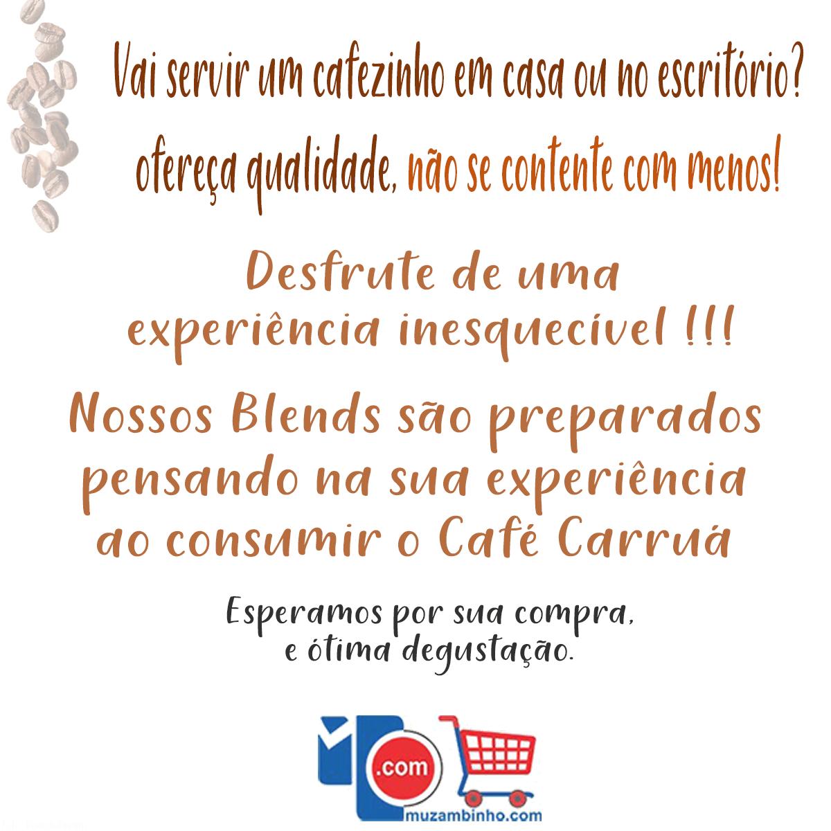 Café Carruá Torrado e Moído Lata 500Gr. 100% Arábica - Cafés Especiais