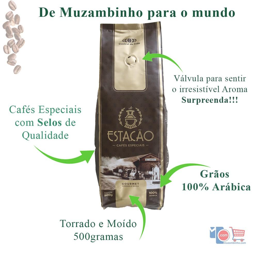 Café Estação Gourmet 500gr Torrado e Moído - Especial 100% Arábica