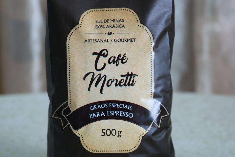 Café Moretti Artesanal e Gourmet - 500g em Grãos