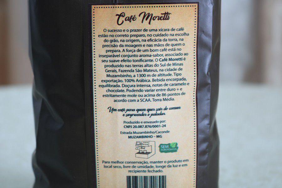 Café Moretti Artesanal e Gourmet - 500g Torrado e Moído