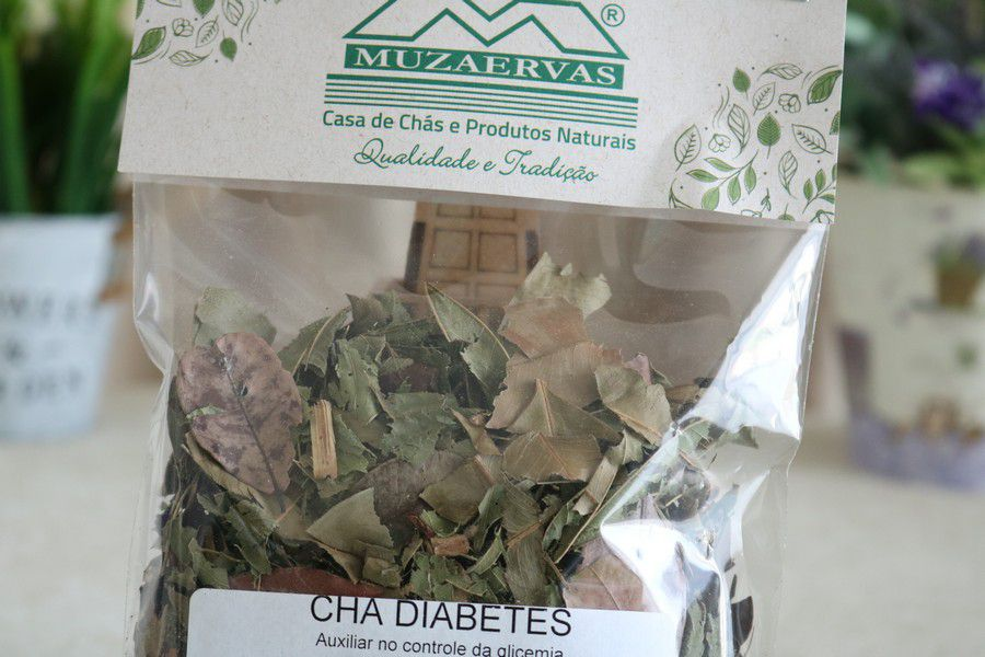 Chá Diabetes - 50gr - Muzaervas