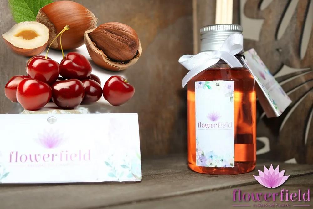 Difusor de Ambiente com Varetas - Aroma: Cereja e Avelã - FlowerField
