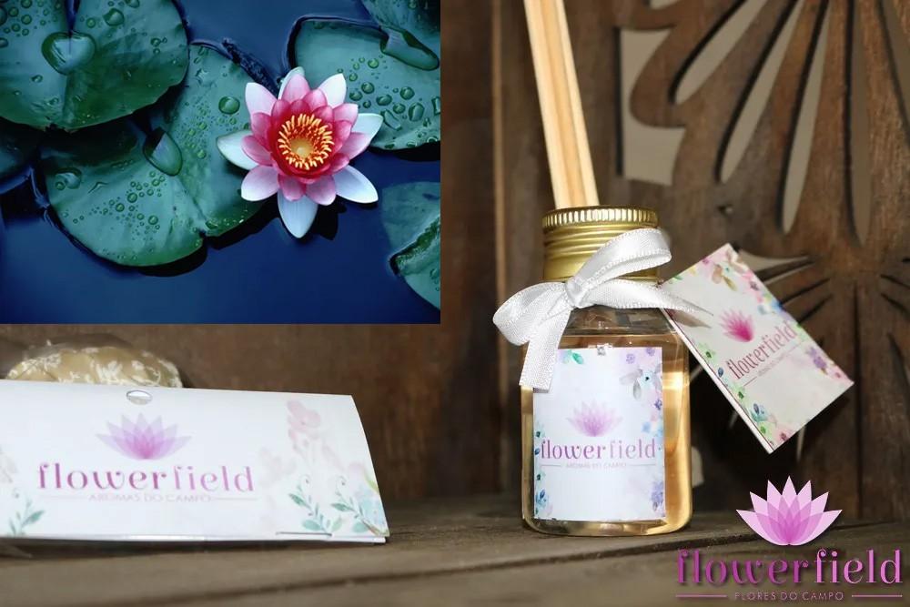 Difusor de Ambiente com Varetas - Aroma: Flor de Lótus - FlowerField