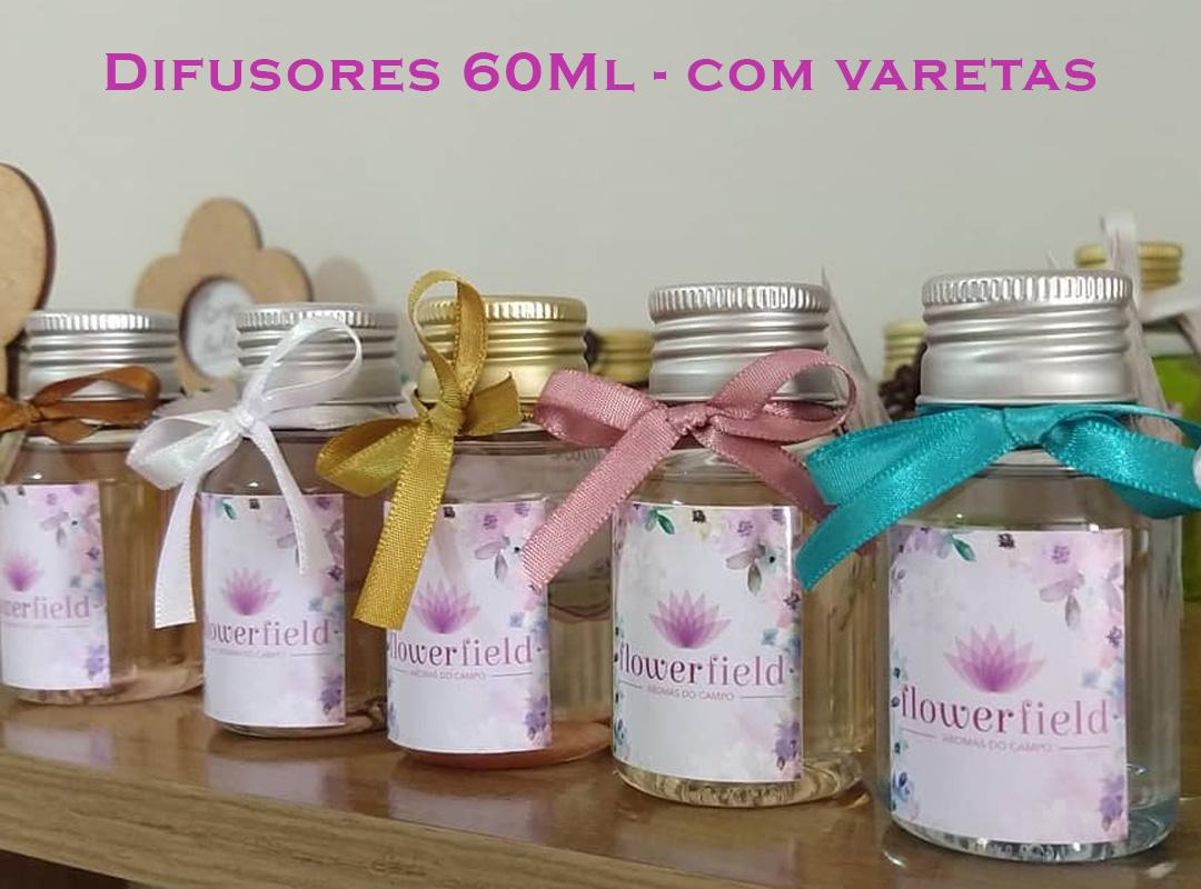 Difusor de Ambientes com Varetas 60ml - Diversos Aromas FlowerField