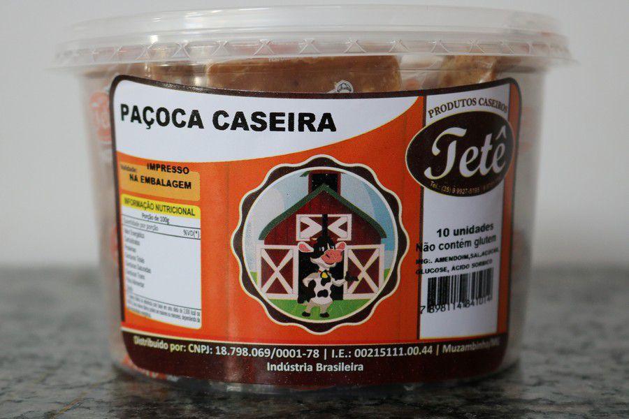 Paçoca Caseira Tetê - Tabletes, Rolhão, Rolhinha - Potes Dvs.