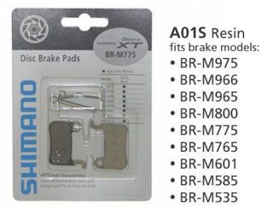 Pastilha de Freio Shimano Deore XT BR-M775 A01S Resina  - IBIKES