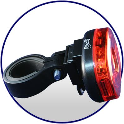 Lanterna Traseira Goeasy 3 Leds GE-353T  - IBIKES