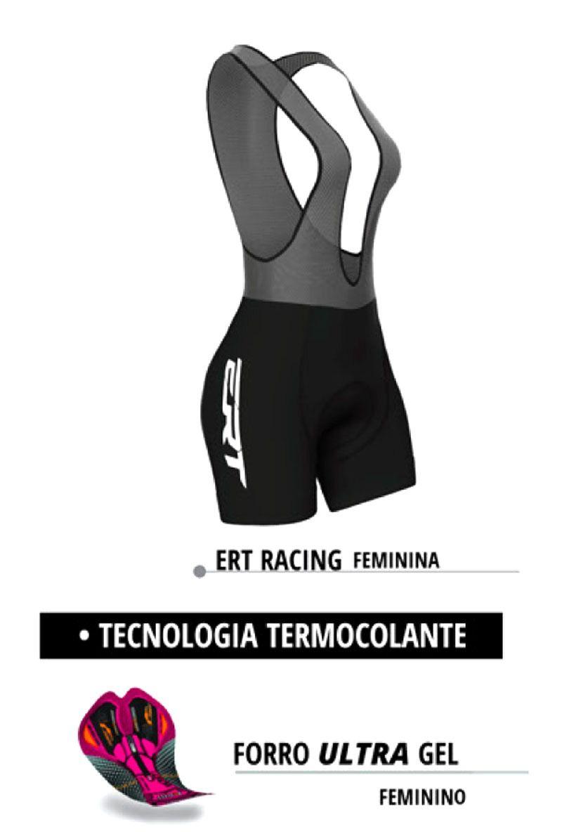 Bretelle ERT Feminino Forro Gel Racing  - IBIKES