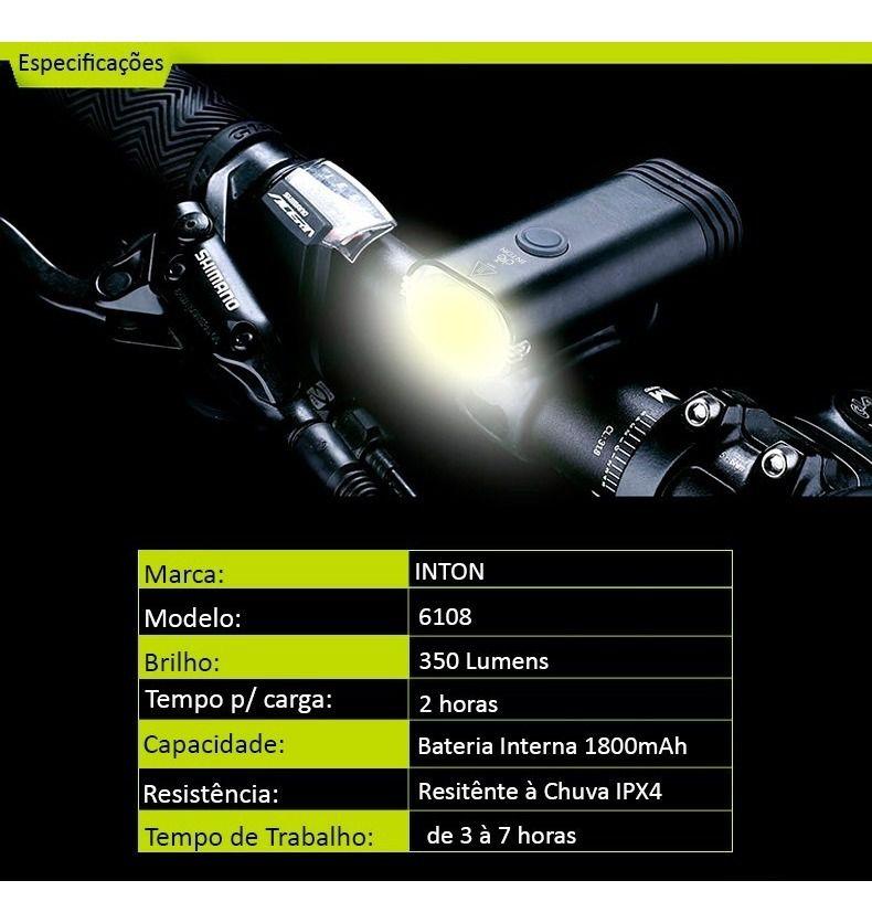 Farol Dianteiro USB 6108 350 Lumens  - IBIKES