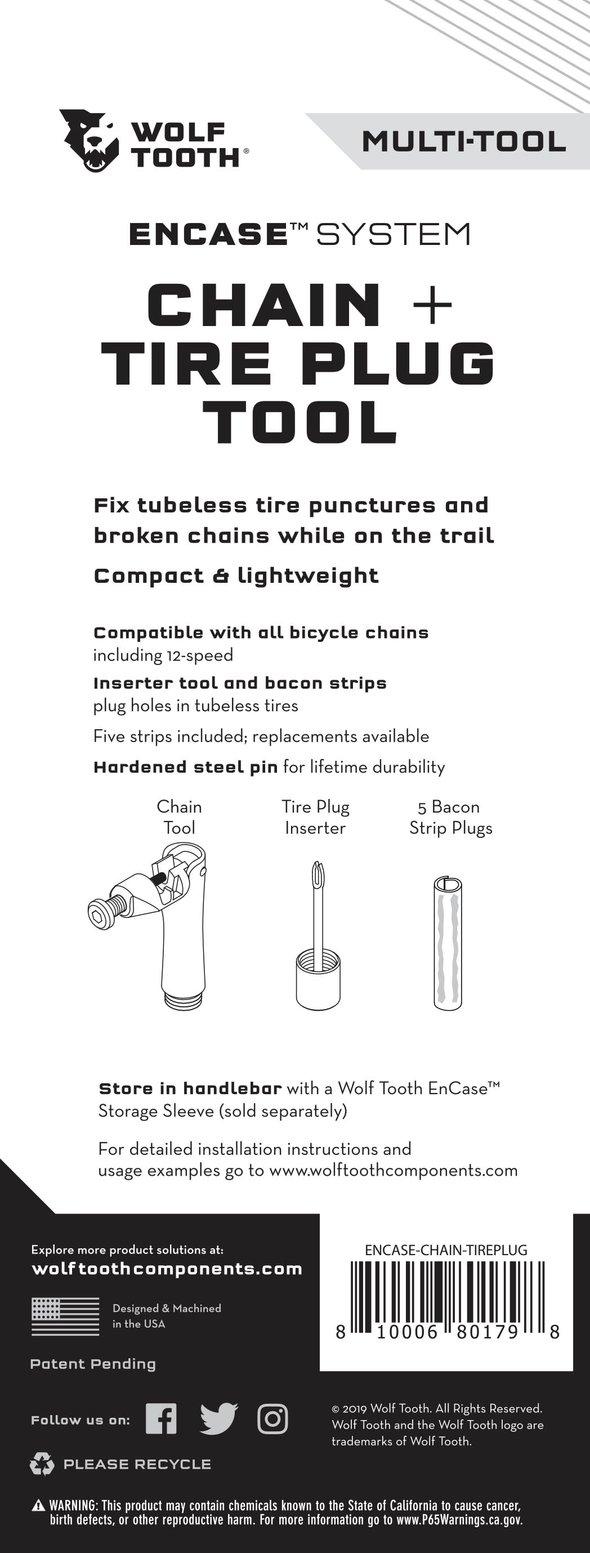Ferramenta Wolf Tooth EnCase System Chain + Tire Plug Multi-Tool  - IBIKES