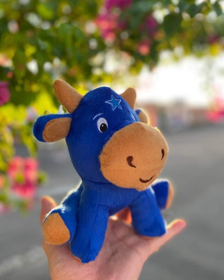 Mini Baby Boi Caprichoso Blue - Q BOI Produtos do Festival de Parintins