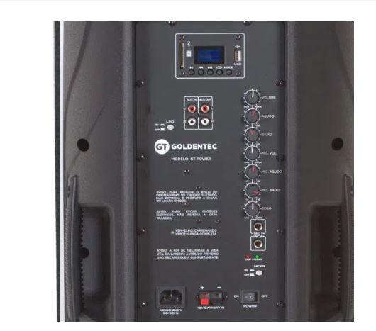 Caixa de Som Amplificada 500W RMS GT Power Projetor Brasil