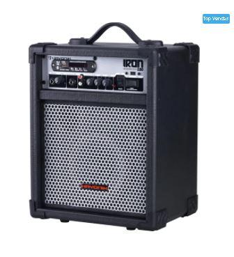Caixa Multiuso 30W Bluetooth/USB/SD/FM IRON 200 Preta HAYONIK