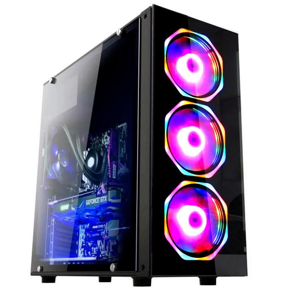 Computador Gamer Hyperx Intel I9 10850K, 32GB, SSD 1TB, Windows 10 Pro Bivolt Preto