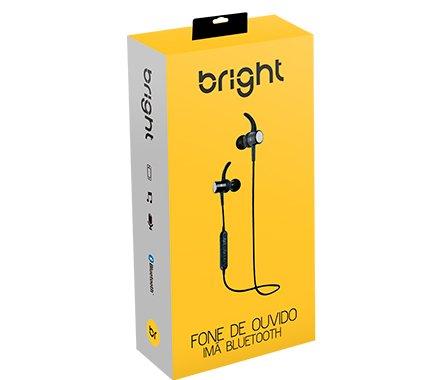 Fone de Ouvido Bright 0511 Imã Bluetooth