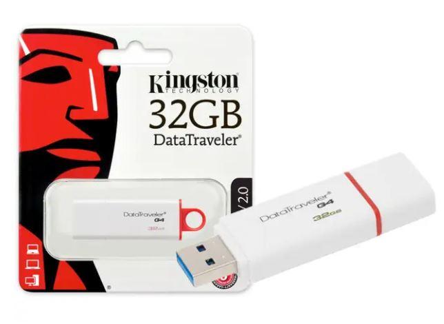 PEN DRIVE USB 3.0 KINGSTON - DTIG4-32GB DATATRAVELER 32GB GENERATION 4 VERMELHO