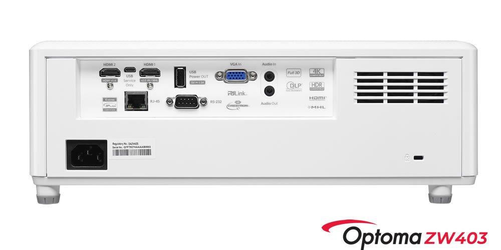 Projetor Optoma ZW403 Laser 4k