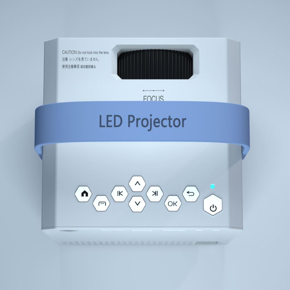 Projetor de LED Portátil H7 LED com Android, Wi-fi 500 Lumens Mi Smart