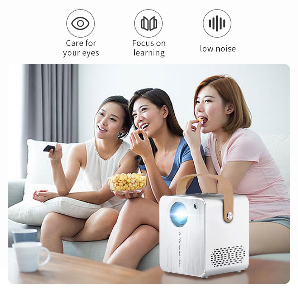 Projetor de LED Portátil H8 com Android, Wi-fi 500 Lumens Home Mi Smart