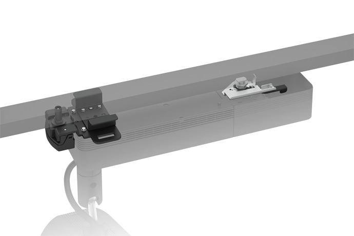 Suporte Preto de Trilho para LightScene EV-105