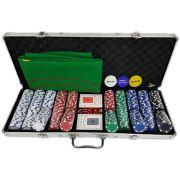 Maleta De Poker (jogo de pôquer) Com 500 Fichas Oficiais De 11,5 Gramas