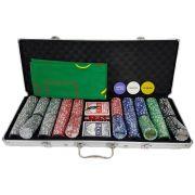 Maleta De Poker (jogo de pôquer) Com 500 Fichas Numeradas e Oficiais De 11,5 Gramas