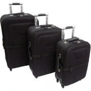 Conjunto (kit) Com 3 Malas De Viagem De 4 Rodas Giratórias Em 360º