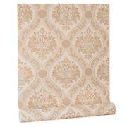 Papel De parede vinílico texturizado arabesco sala 210174