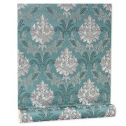 Papel De parede vinílico texturizado arabesco sala 210346