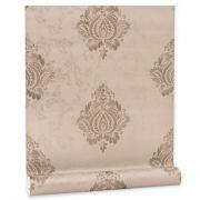 Papel De parede vinílico texturizado arabesco sala 56106