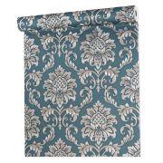 Papel De parede vinílico texturizado arabesco sala 5618