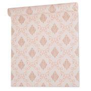Papel De parede vinílico texturizado arabesco sala 7954