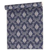 Papel De parede vinílico texturizado arabesco sala 7959