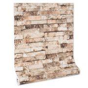 Papel De parede vinílico texturizado tijolo 2263