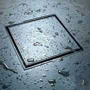 Ralo Invisível 15x15cm Tampa Oculta Inox Banheiro Kelter K-R104*
