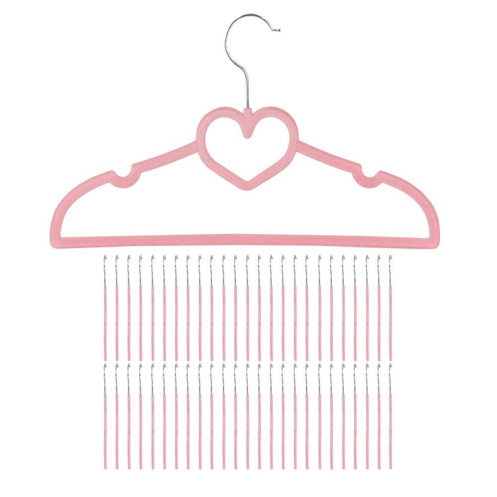 50 cabides de veludo coração rosa aveludado slim kelter Kc50r