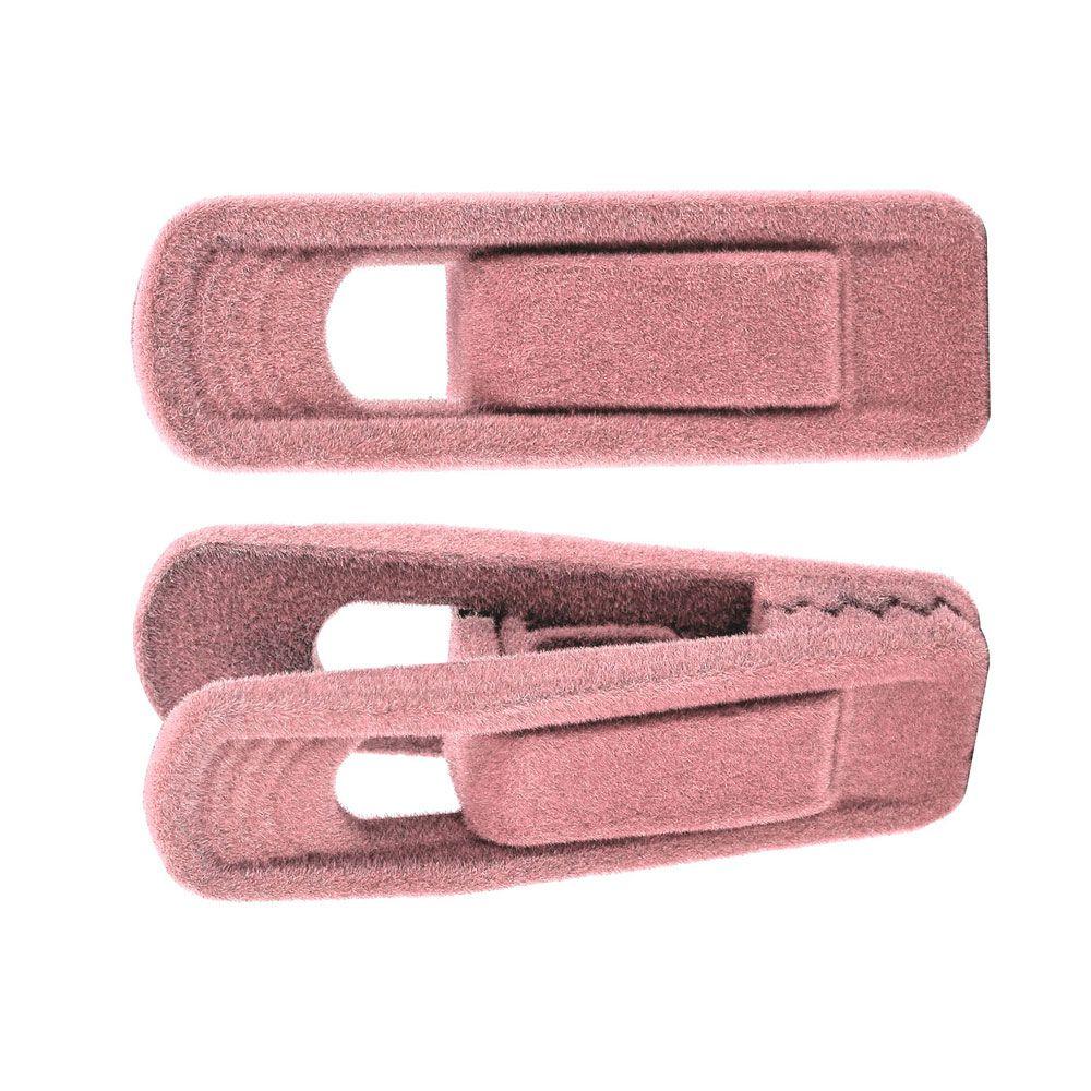 50 Presilhas para cabides de veludo rosa infantil coração Kelter K-P115