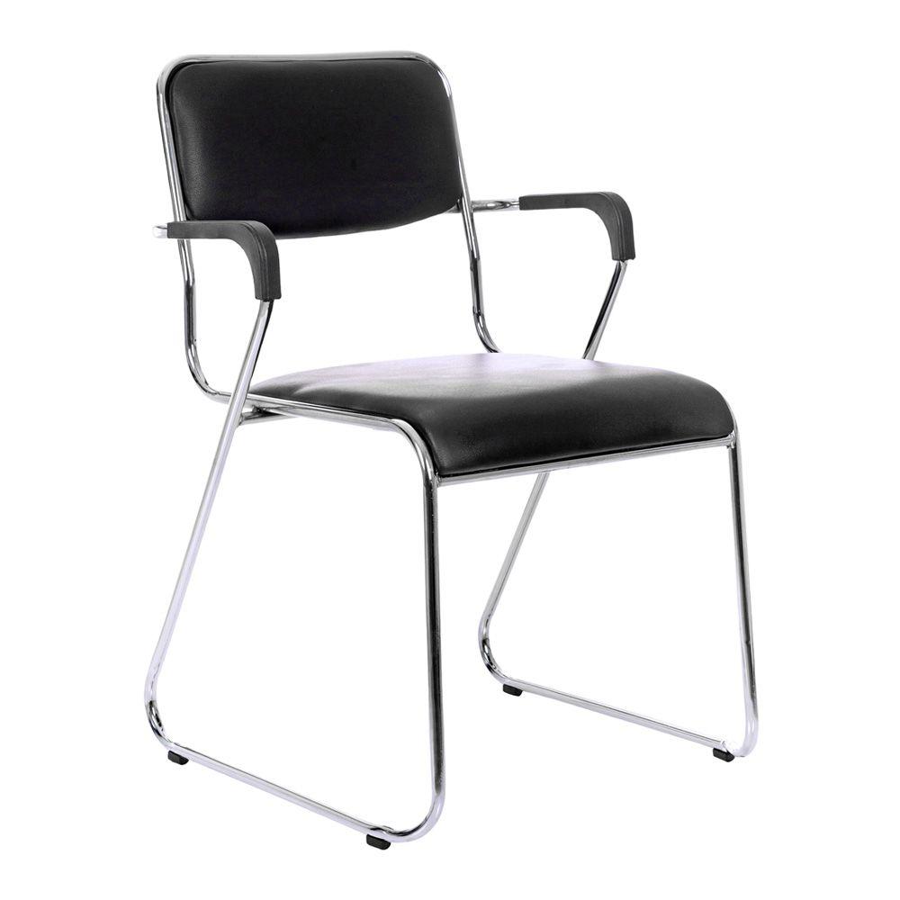 Cadeira com braços interlocutor empilhável de escritório fixa V202