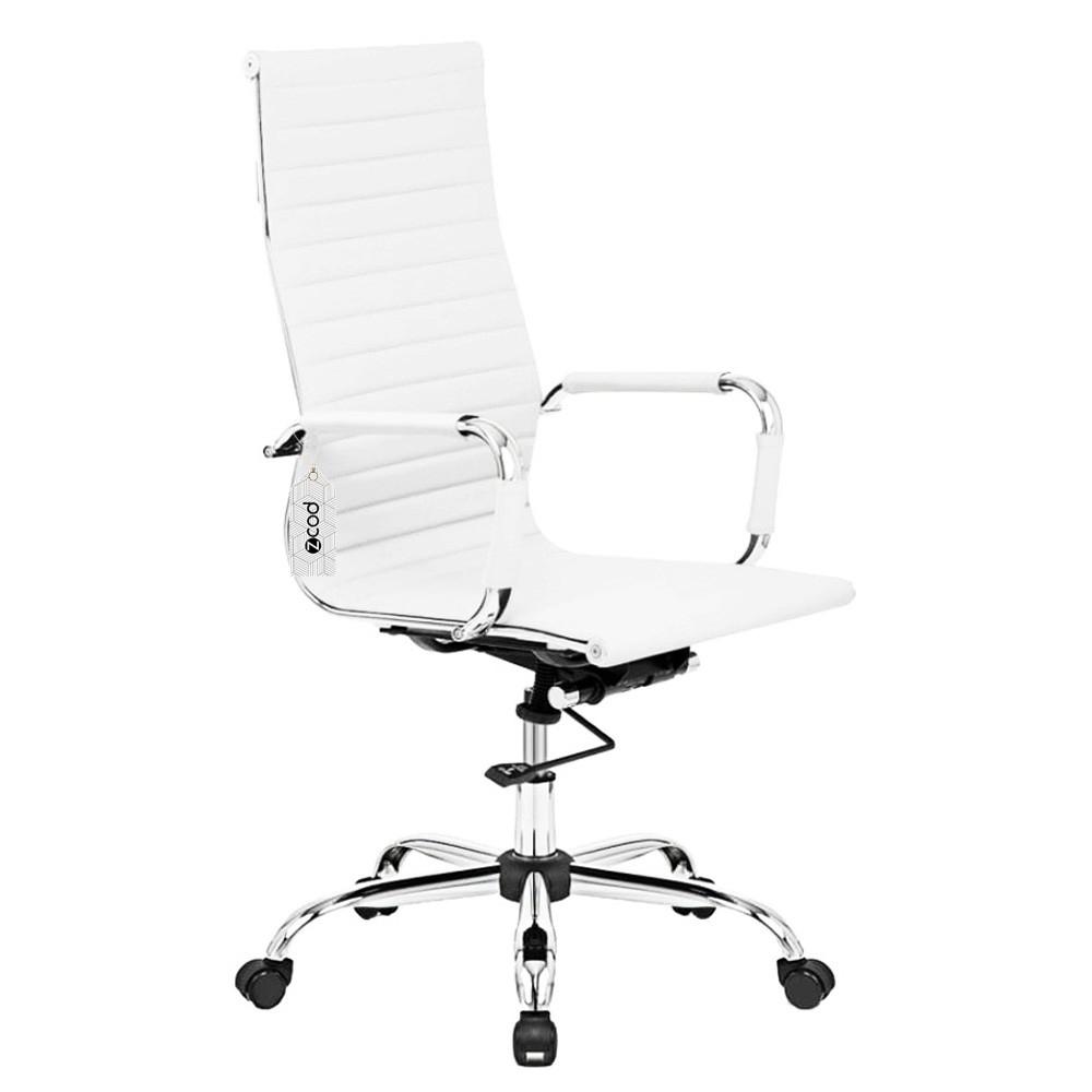 Cadeira de escritório presidente executiva branca V323