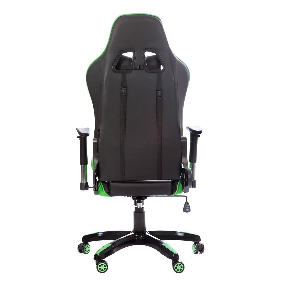 Cadeira Gamer Gaming Escritório Ajuste Lombar Reclinável Em 180º Verde K-C514
