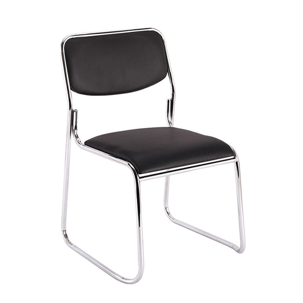 Cadeira interlocutor empilhável sem braços de escritório fixa V201