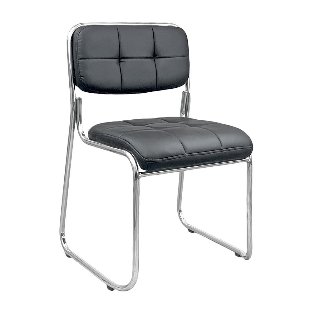 Cadeira interlocutor estofada de escritório empilhável fixa V203